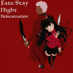 Fate / Stay Night Reincarnation. Передняя обложка. Click to zoom.