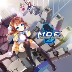 M.O.E.: Master of Eternity Original Game Soundtrack. Передняя обложка. Click to zoom.