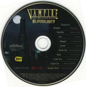 Vampire The Masquerade: Bloodlines Soundtrack. CD. Click to zoom.