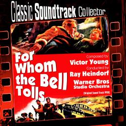 For Whom the Bell Tolls Original Soundtrack 1958. Передняя обложка. Click to zoom.