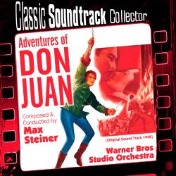 Adventures of Don Juan Original Soundtrack 1948. Передняя обложка. Click to zoom.