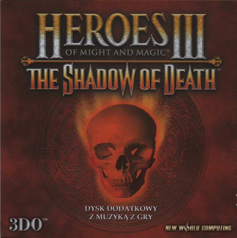 Heroes of Might and Magic III: The Shadow of Death. Booklet Front