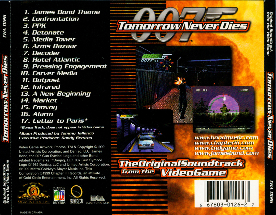 007 tomorrow never dies  the original soundtrack from the