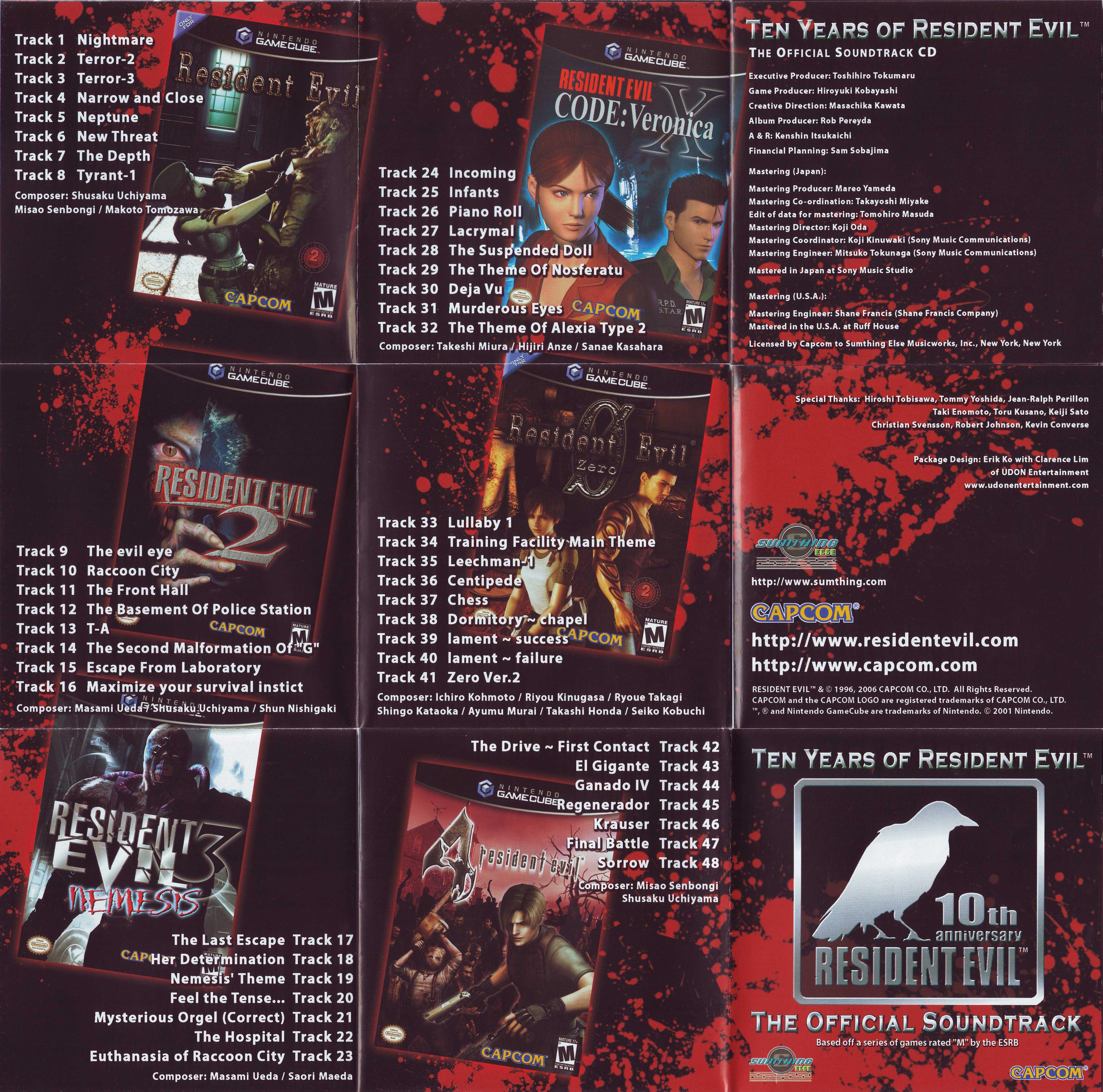 Ten Years Of Resident Evil The Official Soundtrack Muzyka Iz Igry