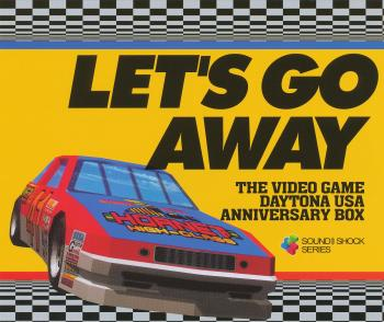 Let's Go Away The Video Game DAYTONA USA Anniversary Box. Front (Display). Click to zoom.