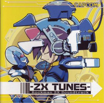 Rockman ZX Soundtrack: ZX Tunes. Booklet Front. Click to zoom.