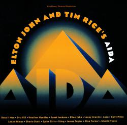 Elton John and Tim Rice's Aida Soundtrack from the Musical. Передняя обложка. Click to zoom.