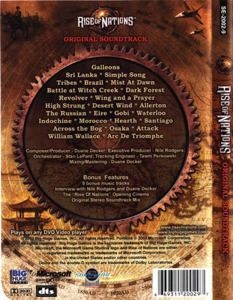 Rise Of Nations Original Soundtrack in 5 1 Surround