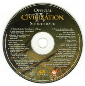 Sid Meier's Civilization IV Official Soundtrack. CD. Click to zoom.
