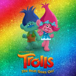 DreamWorks Trolls - The Beat Goes On! Music From the TV Series. Передняя обложка. Click to zoom.