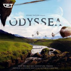 Odyssea Epic Orchestral Adventure Tracks. Передняя обложка. Click to zoom.
