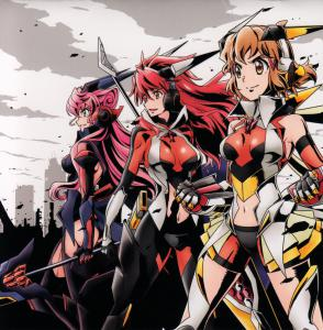 Senkizesshou Symphogear XD UNLIMITED Character Song Album 1. Booklet Front. Click to zoom.