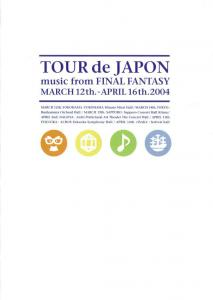 Tour de Japon: Music from Final Fantasy. Front. Click to zoom.