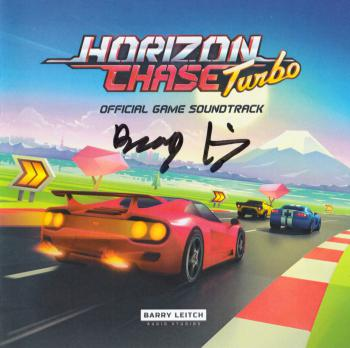 Horizon Chase Turbo Official Game Soundtrack. Booklet Front. Click to zoom.