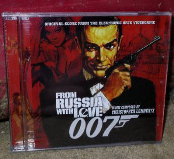 007 From Russia With Love Original Score from the Electronic Arts Videogame. Case Front. Click to zoom.