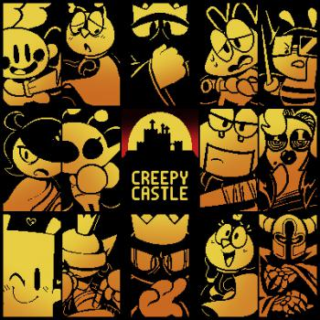 Creepy Castle Official Soundtrack. Front. Click to zoom.