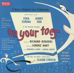 On Your Toes 1954 Broadway Revival Cast Recording. Передняя обложка. Click to zoom.