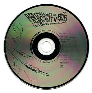 PERSONA MUSIC LIVE 2012 -MAYONAKA TV in Tokyo International Forum- SPECIAL BONUS CD -type B-. Disc (small). Click to zoom.