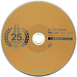 SUPER MARIO HISTORY 1985-2010 Soundtrack CD. Disc. Click to zoom.
