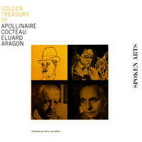 Golden Treasury of Apollinaire, Cocteau, Eluard & Aragon. Передняя обложка. Click to zoom.