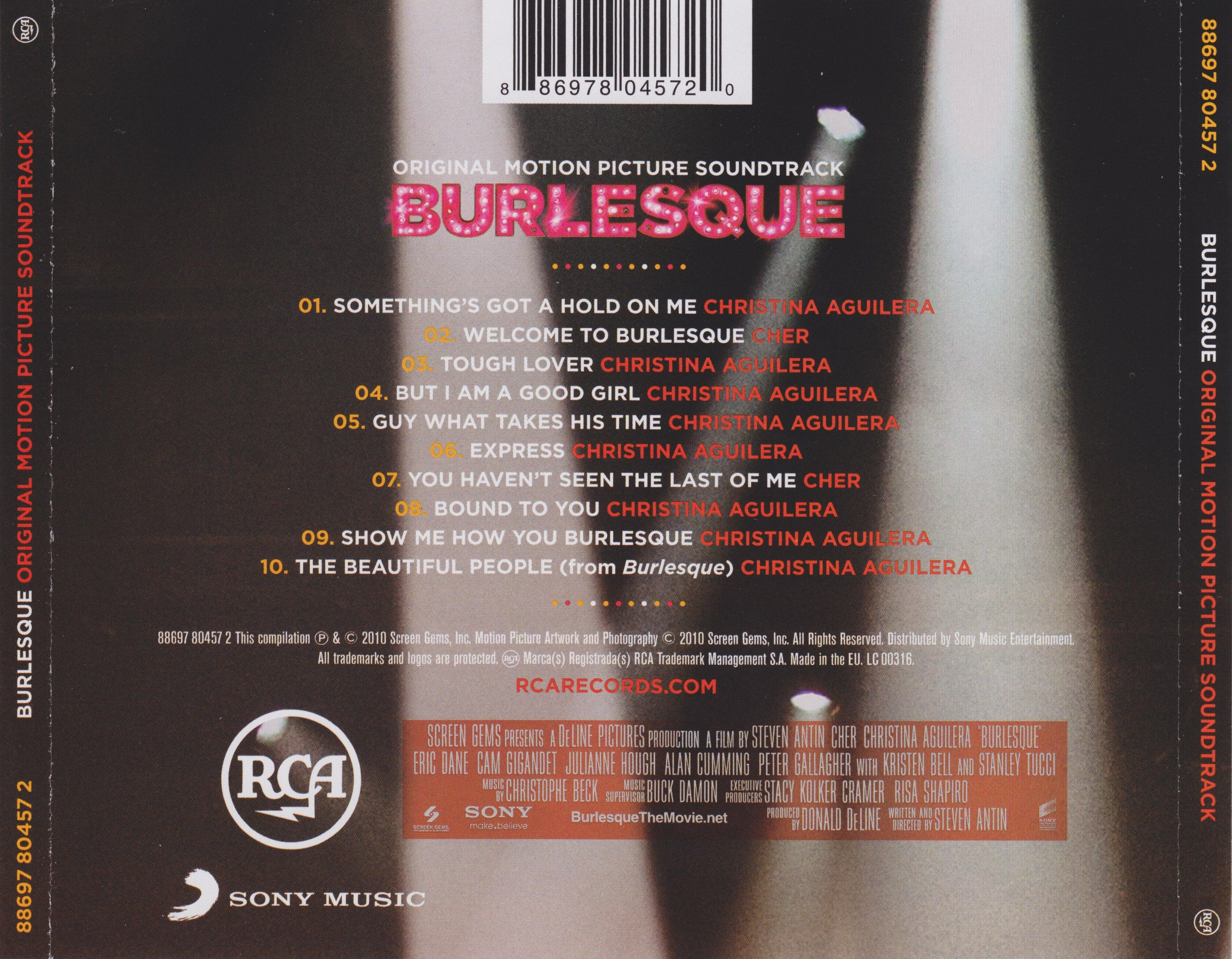 burlesque soundtrack