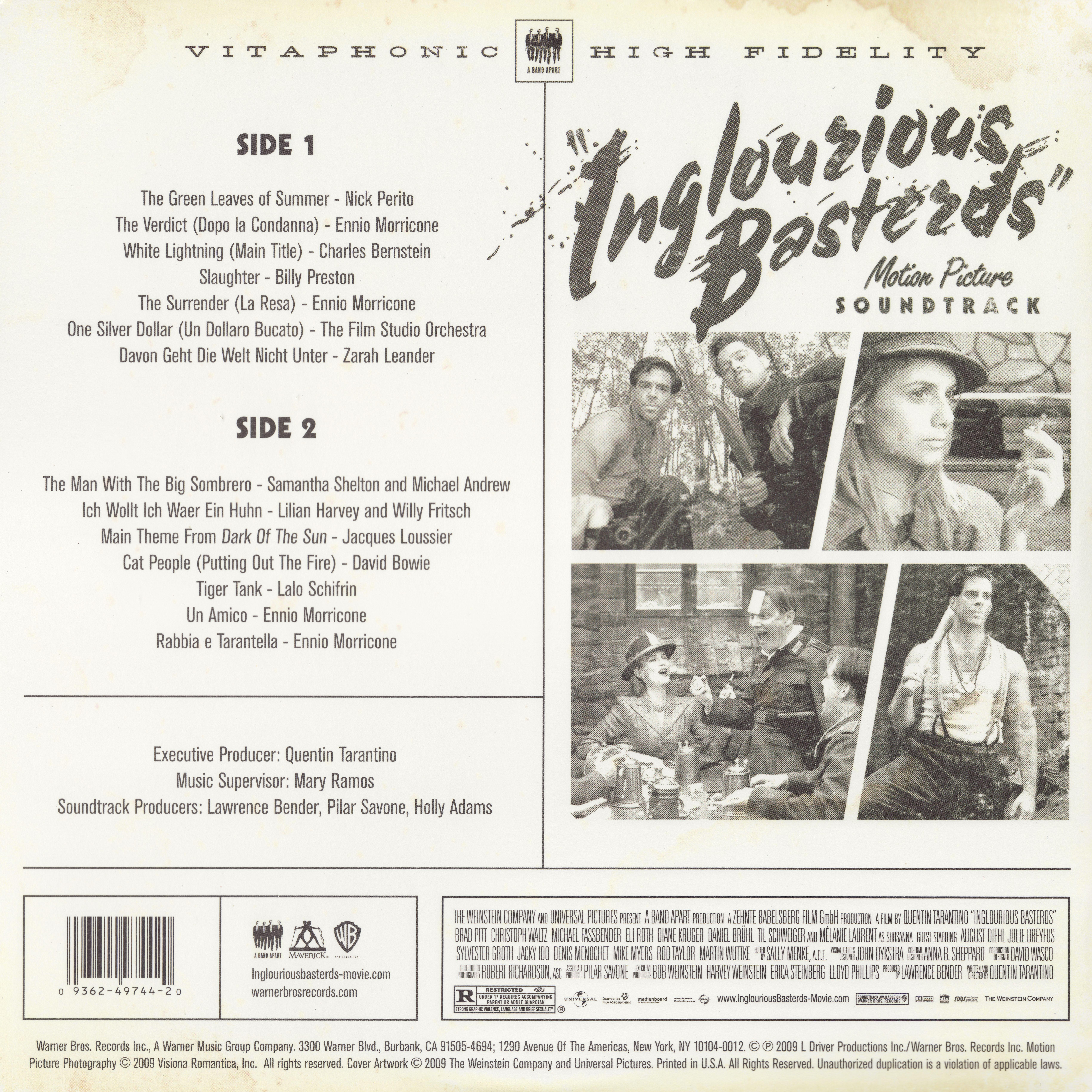 Inglourious Basterds Motion Picture Soundtrack