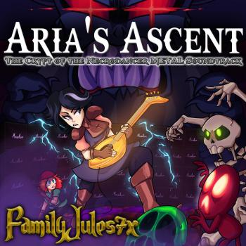 Aria's Ascent - The Crypt of the Necrodancer Metal Soundtrack. Front. Click to zoom.