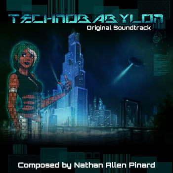 Technobabylon Original Soundtrack. Front. Click to zoom.