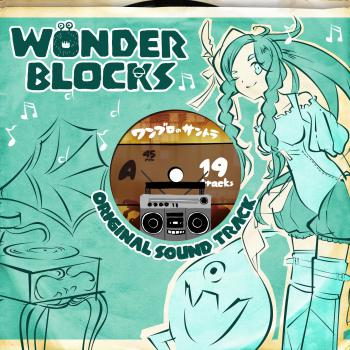 WONDER BLOCKS Original Sound Track. Front (small). Click to zoom.
