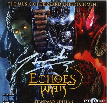 Echoes of War: The Music of Blizzard Entertainment Standard Edition. Front Case (Signed). Click to zoom.