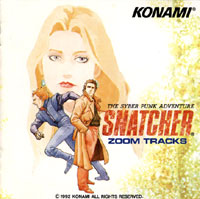 Snatcher -Zoom Tracks-, The Syber Punk Adventure. Передняя обложка. Click to zoom.