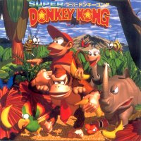 Super Donkey Kong Game Music CD ~ Jungle Fantasy. Передняя обложка. Click to zoom.
